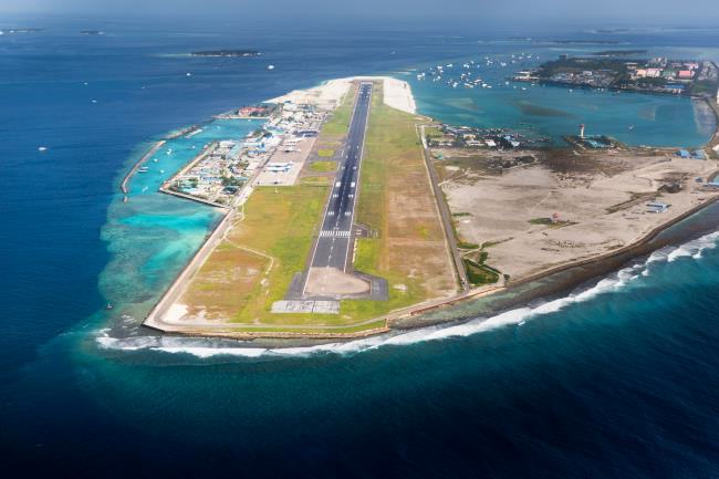 Picture of main airport in Male, Capital of Maldives region